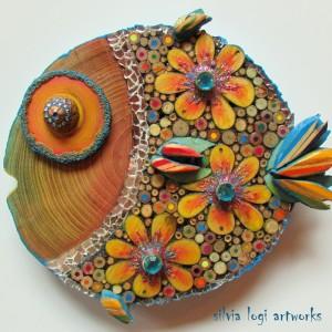 pesce palla floreale 2 mega