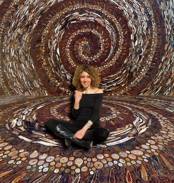 NAUTILUS table in natural elements mosaic
