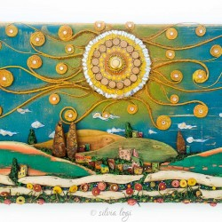 happy spring in the countryside 27 x 52 x 4 cm